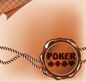 Pokera karty laku pieczęci. Ilustracja wektorowa — Wektor stockowy