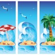 Set tropical banners. vector illustration — Stock Vector