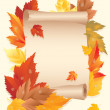 Autumn card, vector illustration — Stock Vector