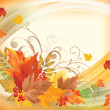 Autumn background, vector illustration — Stock Vector
