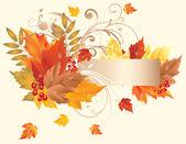 Autumn banner, vector — Stock Vector