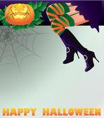Fondo de halloween feliz, ilustración vectorial — Vector de stock