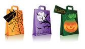 Halloween shopping bags, vector illustration — Stock Vector