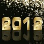 New Year 2012, vector illustration — Stock Vector
