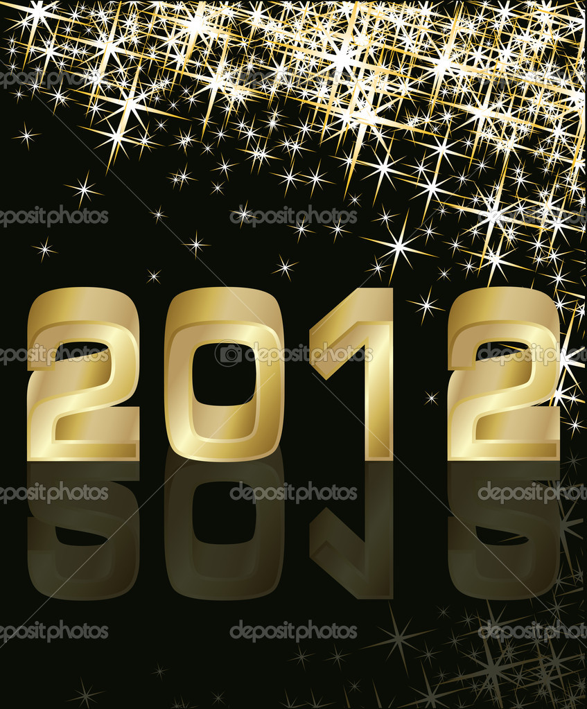 New Year 2012, vector illustration  Stock Vector #6684086
