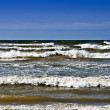 Baltic sea in windy day near to Mikeltornis.Latvia. — Stock Photo