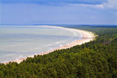 Aerial view on the seashore, Latvia. — Stock Photo