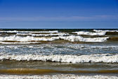 Baltic sea in windy day near to Mikeltornis.Latvia. — Foto Stock