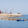 Panoramic view of Bari seaport. Apulia. - Stock Photo