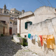 Panoramic view of Matera. Basilicata. — Stock Photo