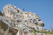 De kerk van madonna de idris. matera. basilicata. — Stockfoto