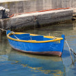 Stock Photo: Boat moored at Molfettport. Apulia.