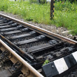 Stock Photo: Catch switch of railway