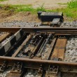 Stock Photo: Old passing track switch