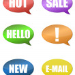 Thought Bubbles With different messages over a white background. vector - Foto de Stock