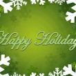 Stock Photo: Happy holidays themed background with snowflakes and stars