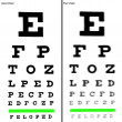 Good and Poor Eye Chart Illustrations. — Stock Photo