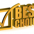 Best choice golden illustration sign isolated over white — Stock Photo