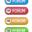 Forum buttons isolated over a white background. - ストック写真