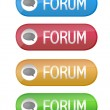 Forum buttons isolated over a white background. - Foto Stock