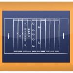 Teamwork Football Game Plan Strategy on Blackboard — Stock Photo #6413952