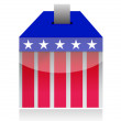 Vote poll ballot box for united states election — Stock Photo