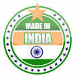 Made in india stamp isolated over a white background. - Foto de Stock
