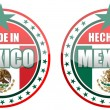 Made in Mexico stamp isolated over a white background. - Stock Photo
