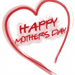 Stock Photo: Happy Mothers day love heart isolated over a white background