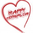 Stock Photo: Happy Mothers day love heart isolated over white background