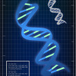 Illustration of DNA matching background — Stock Photo