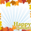 Illustration composition for Thanksgiving invitation or greeting card. Happ - Stock Photo
