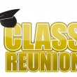 Class reunion Graduation cap isolated on white background. — Stock Photo