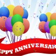 Happy anniversary balloons and banner illustration design — Stock Photo #6414455