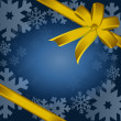 Detail illustration of gold christmas gift, ribbon, bow — Stock Photo #6414465