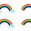 Four different rainbow options to choose from. Illustration design. — Stock Photo