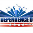 Independence day 4th of july sign - Stock Photo