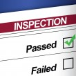 Inspection Results Passed - Stock Photo