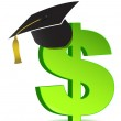 Education and dollar sign — Stock Photo