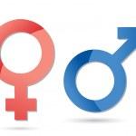 símbolos masculinos y femeninos — Foto de Stock