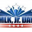 Stock Photo: Martin Luther King Jr. Day sign. isolated