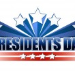 Presidents day sign isolated over a white background. - Stock Photo