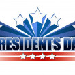 Stock Photo: Presidents day sign isolated over white background.