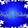 Happy holidays themed background — Stock Photo
