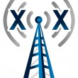 Blue wireless technology tower with no signal — Stock Photo #6414993
