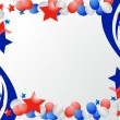 Illustrated stars and ribbons for patriotic background - Stock Photo