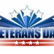 Stock Photo: Veterans day logo illustration isolated over white background.