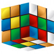 Stock Photo: Colorful 3d cube