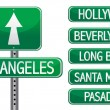 Los angeles street signs isolated over a white background - Stock Photo