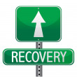 Stock Photo: Recovery street sign